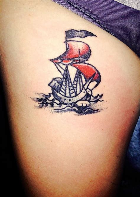 fairfax tattoo spontaneous friday the 13th traditional ship on my