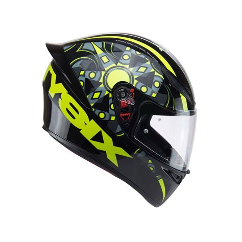 agv visor agv painted low rear vent gp tech zubehör und agv k1 flavum