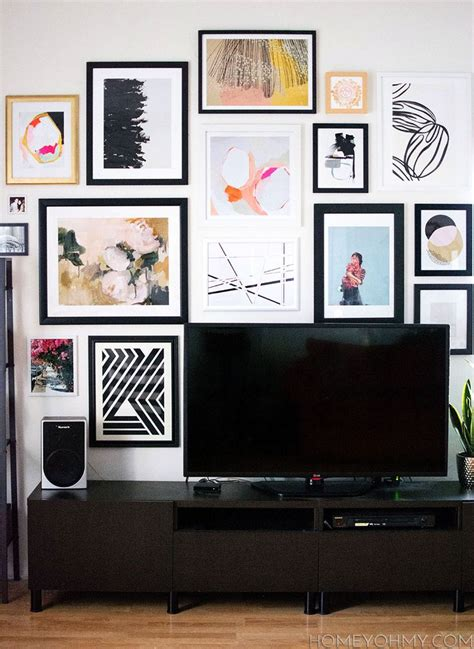 best gallery walls best 25 tv gallery walls ideas on decorating around tv picture placement on wall
