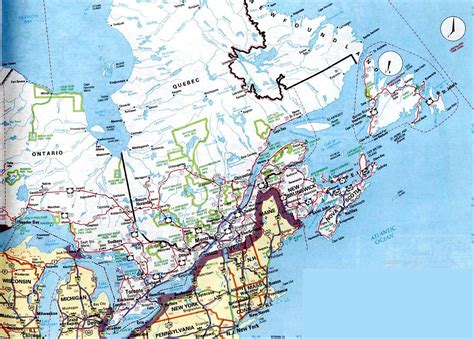 map of eastern usa and canada map of east coast canada