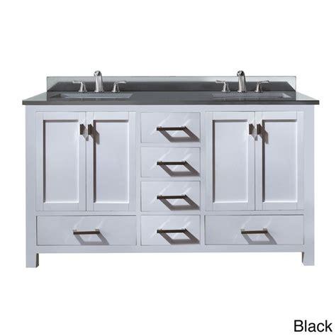 57 Inch Sink Vanity by Avanity Modero 60 Inch Vanity In White Finish With