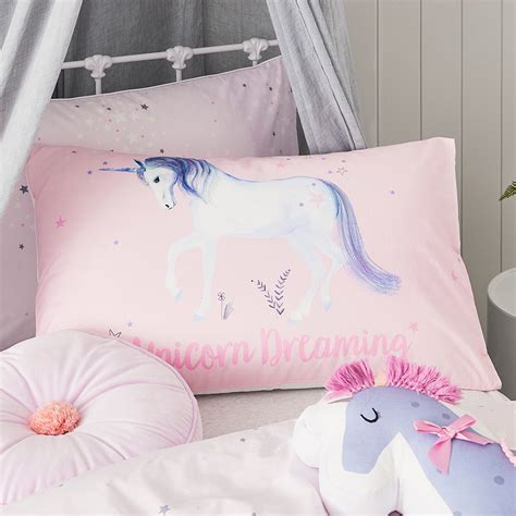 purple coverlets adairs kids unicorn star quilt cover set purple