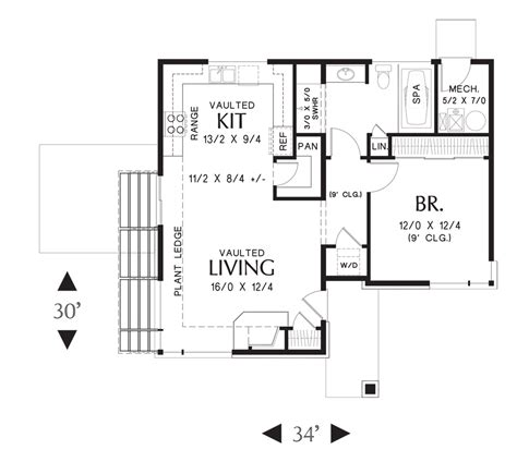 Modern 1 Bedroom House Plans by Coastal House Plan 1166 The Dunland 899 Sqft 1 Bedrooms