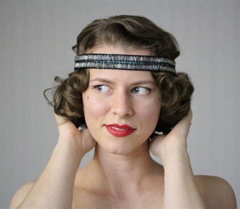 20s hairstyles with headband 1920s headband flapper hair accessory art deco headpiece