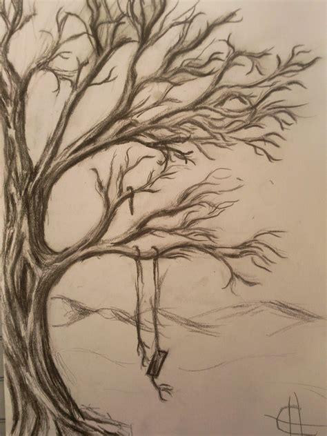 tree with swing drawing tree swing by blackbloodytear on deviantart
