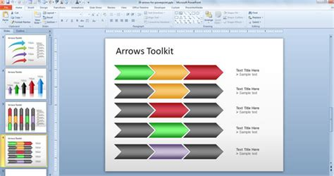 templates powerpoint original free arrows toolkit for powerpoint presentations