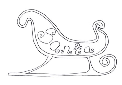 coloring pages of santa sleigh sleigh coloring pages christmas