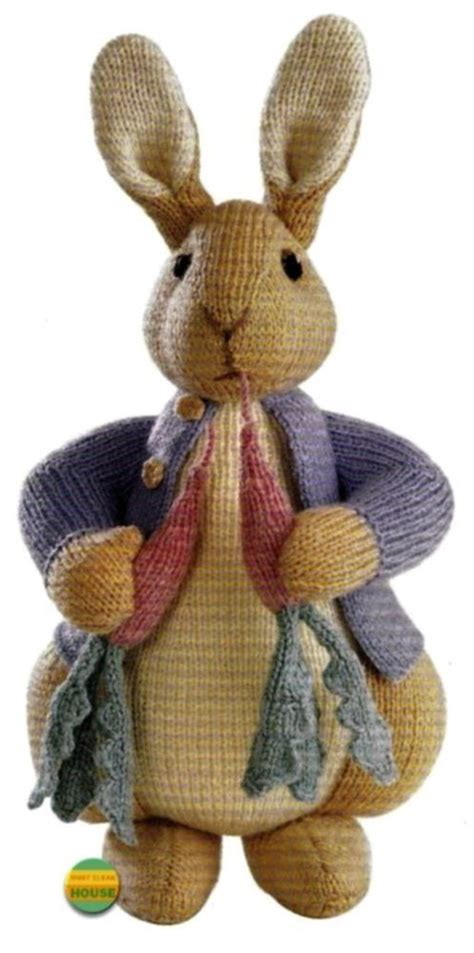 knitting pattern rabbit toy alan dart peter rabbit beatrix potter original tdb toy