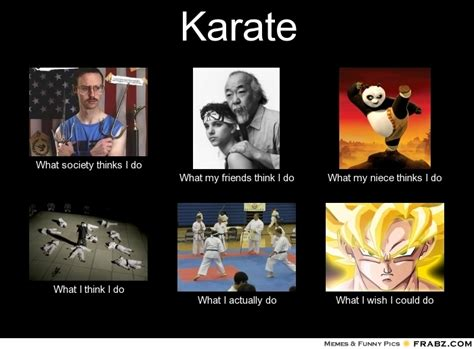 Karate Meme Generator - karate what people think i do what i really do