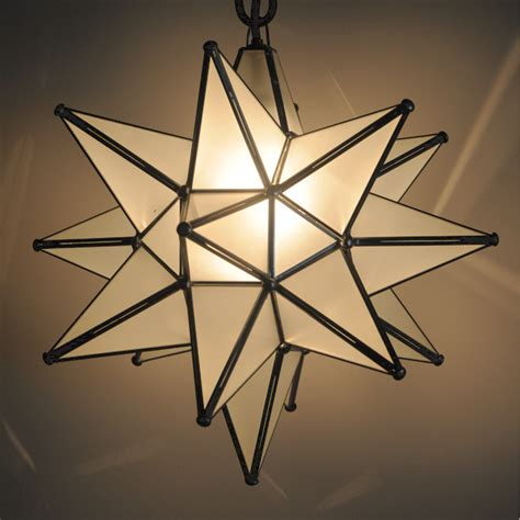glass moravian star light large custom metal lighting