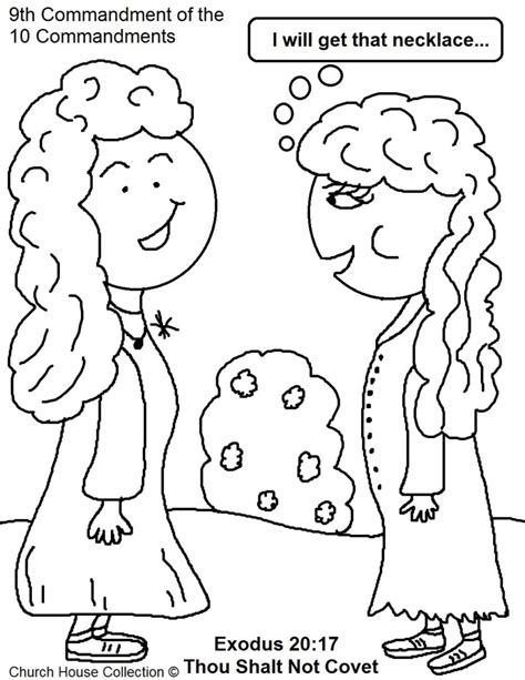 coloring pages not printable coloring pages thou shalt not covet sunday school lesson