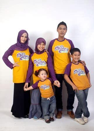 desain baju kaos keluarga 15 model baju kaos muslim keluarga modern terpopuler 2017