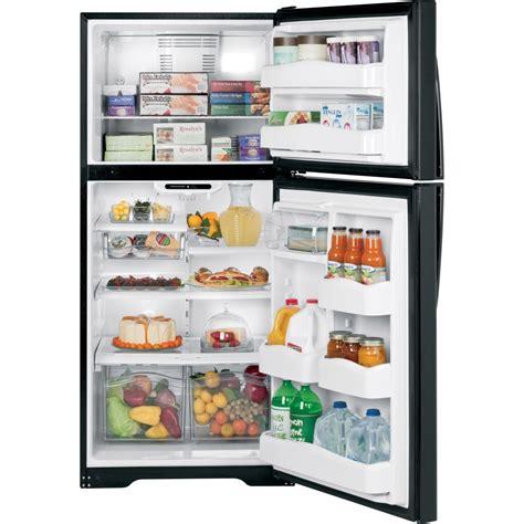 ge gth20jbbbb 20 0 cu ft top freezer refrigerator with