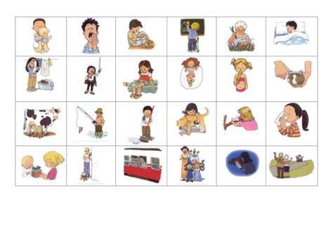 vocabulario en im 225 genes maestra de infantil y primaria dibujos acciones verbos bingo de acciones