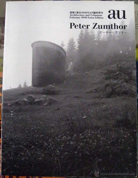 libro peter zumthor buildings and architecture urbanism a u peter zumthor f comprar libros de arquitectura en