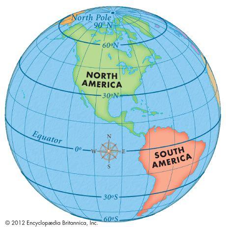 globe maps and lines of latitude latitude encyclopedia children s homework help