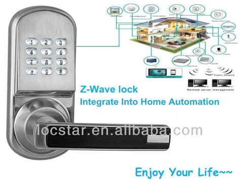 ls8015 z wave home automation door lock for smart home