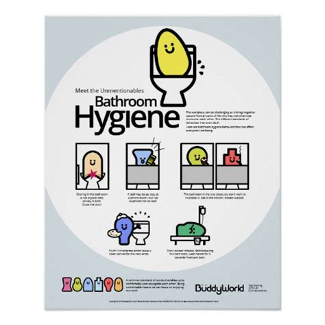bathroom hygiene unmentionables bathroom hygiene posters zazzle