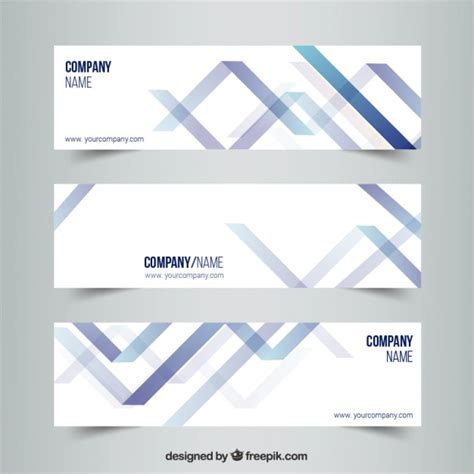 design banner freepik abstract banners in modern style vector free download