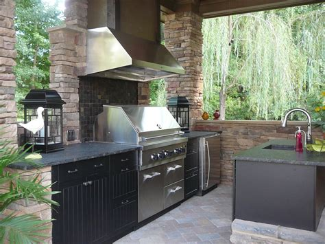 modular outdoor kitchens stone modular astounding modular outdoor kitchen design with exposed