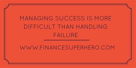 managing  cycle  failure  success finance superhero