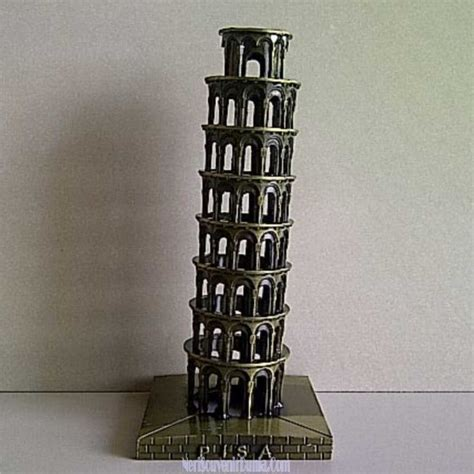 Souvenir Mancanegara Asbak Italia jual souvenir miniatur pisa besi italia