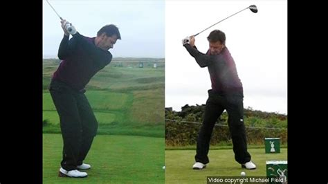 nick faldo golf swing nick faldo golf swing driver down the line face on