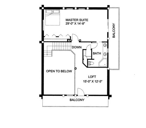 a frame log cabin floor plans gasconade a frame log home plan 088d 0006 house plans and more