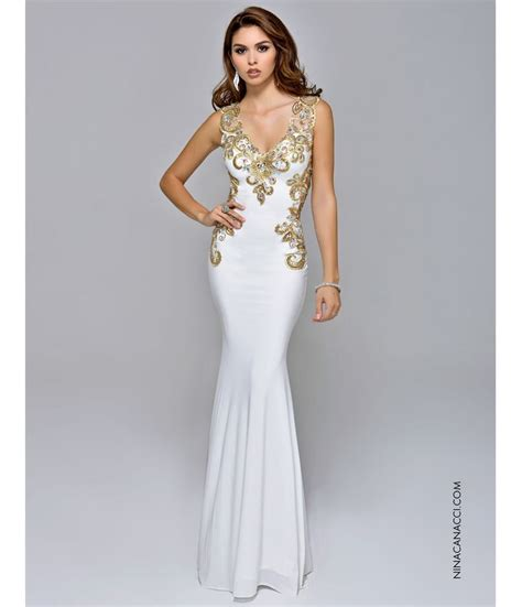 gold and white fitted prom dresses naf dresses 1930s style prom dresses formal dresses evening gowns my goals open back dresses and back