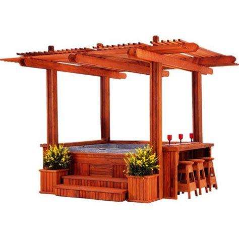 tubs gazebo ps wood arbor gazebos villas spa gazebo tub gazebo cabana spa tub enclosure cal designs