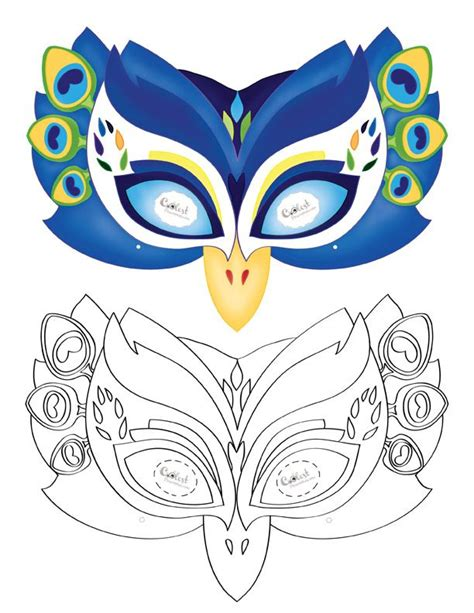 printable bird mask printable peacock mask coolest free printables costumes