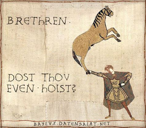 Medieval Tapestry Meme - do you even lift medieval macros bayeux tapestry