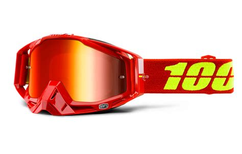 100 motocross goggles commencal 2016 100 goggle racecraft corvette mirror red lens