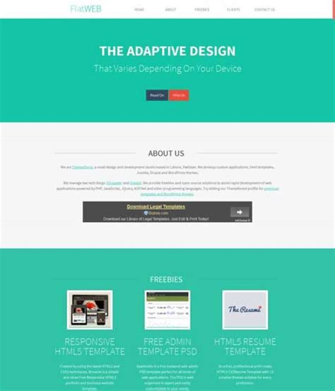 one page html5 responsive template free 155 free responsive html5 css3 website templates