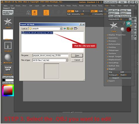 zbrush tutorial import importing and detailing a mesh in zbrush 2