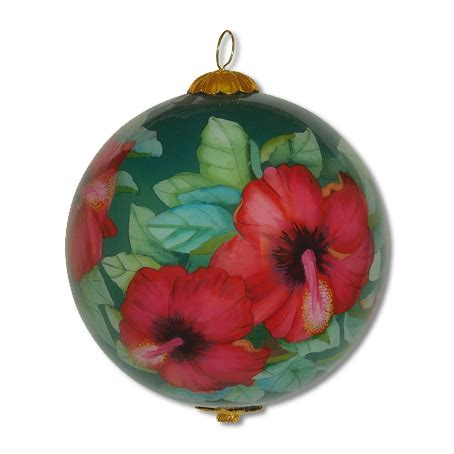 hawaiian designer christmas ornaments colors hibiscus hawaiian ornament by design