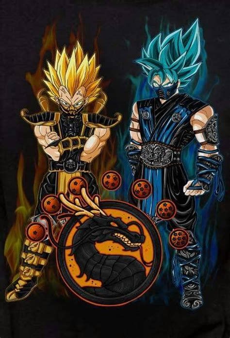 goku amp vegeta as scorpion amp subzero dragonballz