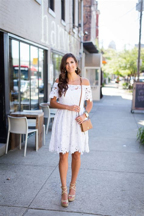 White Wedges Dress white the shoulder dress a southern drawl