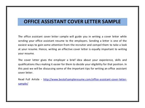 cover letter template for office assistant office assistant cover letter
