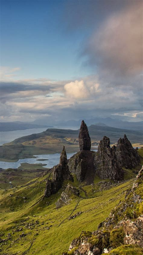 wallpaper isle  skye scotland europe nature