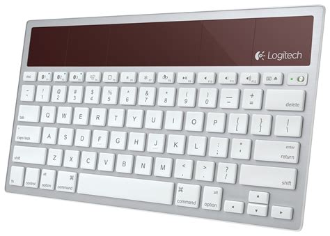 Solar Powered Keyboard by Logitech Solar Powered Wireless Bluetooth Keyboard K760