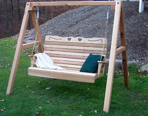 swing springs red cedar royal sweetheart highback porch swing