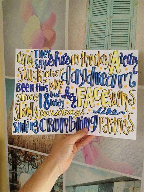 ed sheeran   team lyric art  miasdrawings  etsy