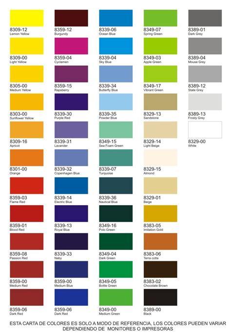 carta de colores interior carta de colores cartas de color