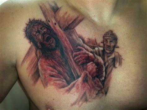 tattoo jesus kreuz rücken art area heiko der letzte weg tattoos von tattoo