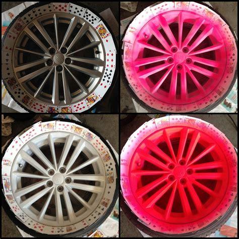 plasti dip colors rims plasti dip rims quot blaze quot pink tap how to projects rims