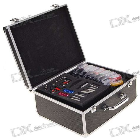 tattoo kit with case professional 6 gun tattoo machine complete kit set with