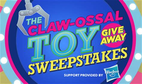Free Toy Giveaway 2015 - hasbro claw ossal toy giveaway sweepstakes
