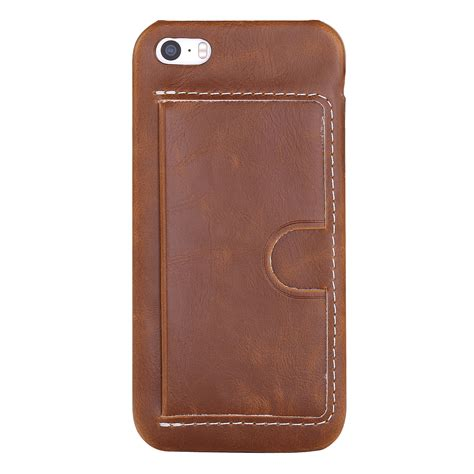 Wallet Leather Iphone 5 pu leather credit card holder wallet back phone