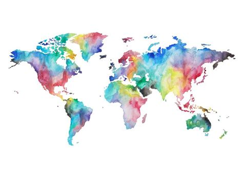 Map Of The World Wall Mural 25 pinterest